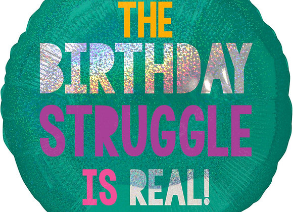 Helium Happy Birthday Struggle