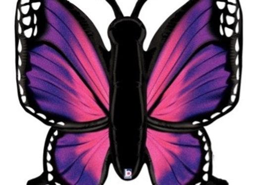 Roze vlinder follieballon