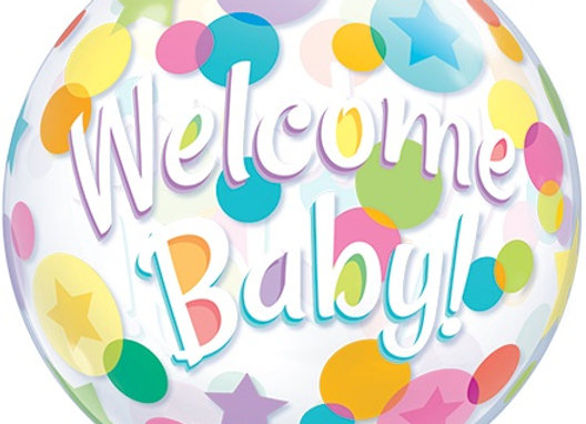 Helium bol Welcome Baby