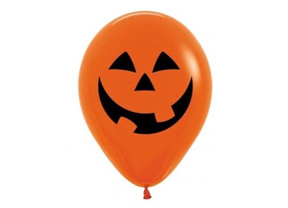 Zak losse ballonnen: Pumpkin face