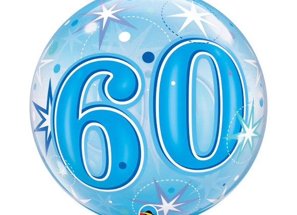 Helium bol blauw 60