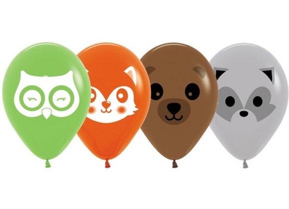 Zak losse ballonnen: Forest animals