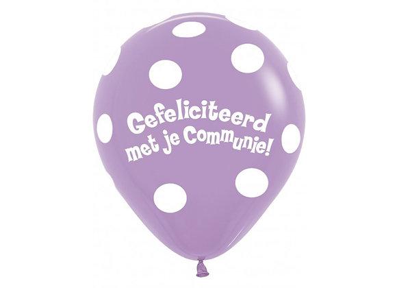 Zak losse ballonnen: Communie bolletjes paars