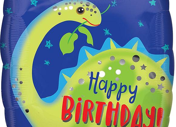 Helium Dino Happy Birthday