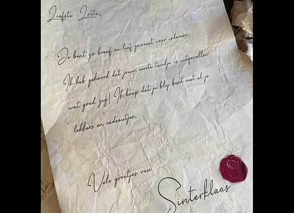 Oude Sinterklaas brief