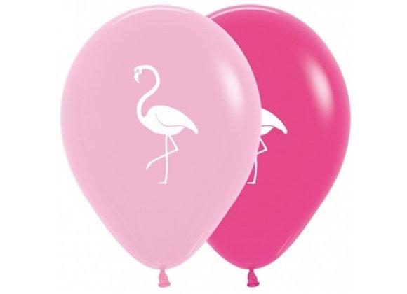 Zak losse ballonnen: Flamingo
