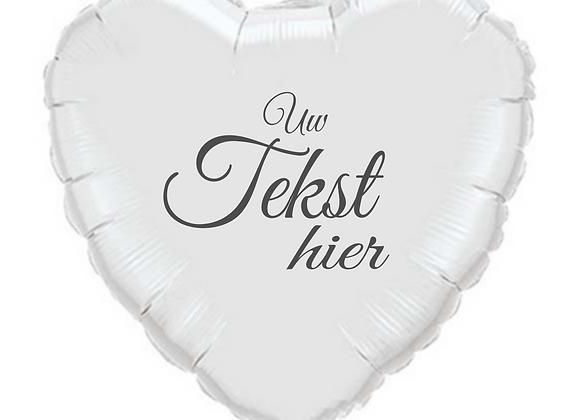 Helium hart wit