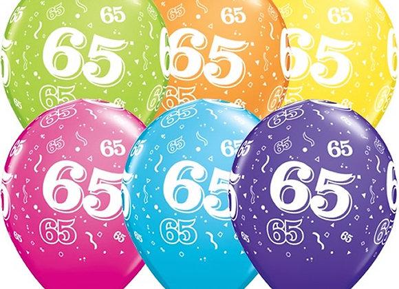 Zak losse ballonnen: 65 assortiment