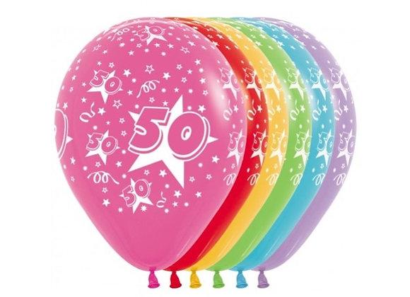 Zak losse ballonnen: 50 assortiment