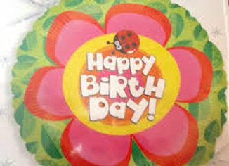 happy birthday flower ladybug
