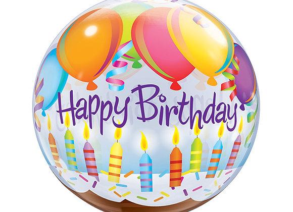 Helium bol candles Happy Birthday