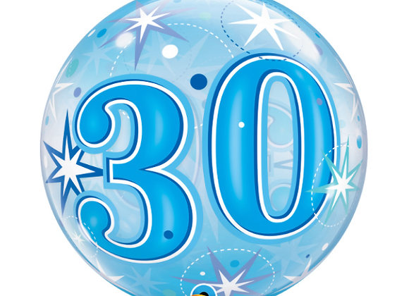 Helium bol blauw 30