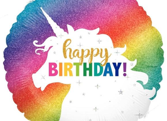 Helium Unicorn Happy Birthday