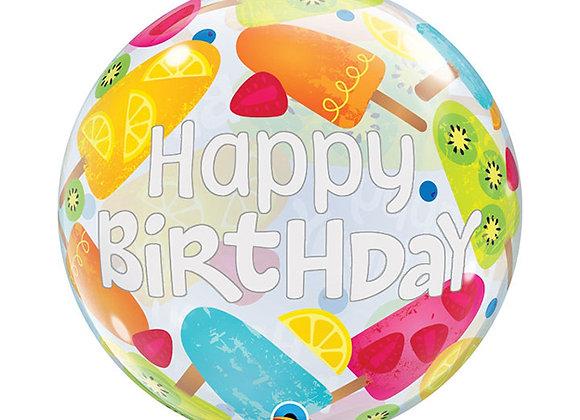Helium bol ijsjes Happy Birthday