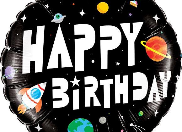 Helium Space Happy Birthday