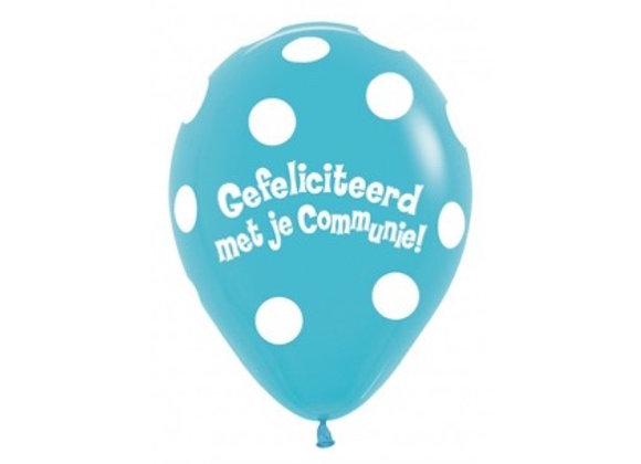 Zak losse ballonnen: Communie gefeliciteerd