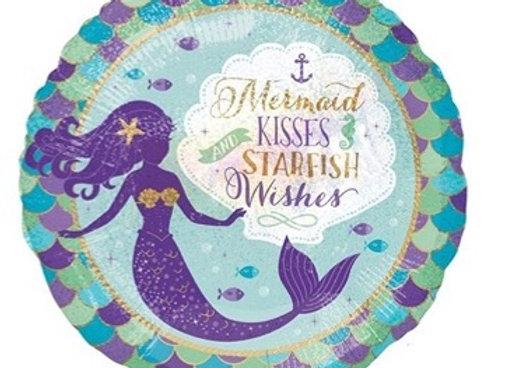 Mermaid kisses stars and wishes