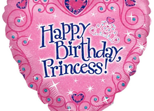 Helium Happy Birthday Princess