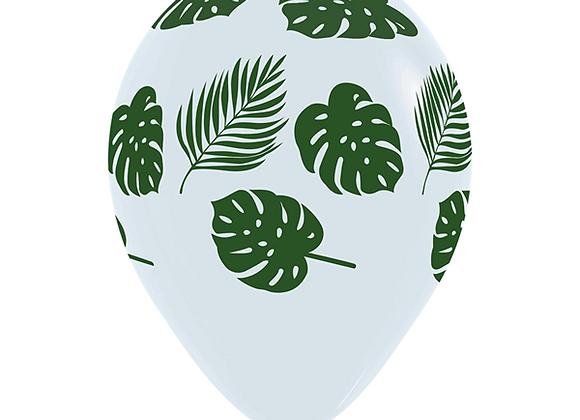Zak losse ballonnen: Leaves white