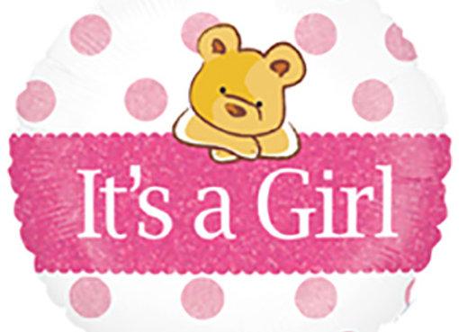 Helium It's a Girl bear
