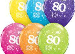 Zak losse ballonnen: 80 assortiment