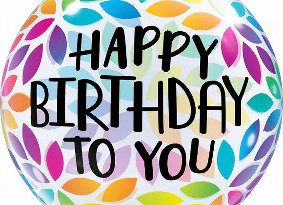 Helium bol color leaves Happy Birthday