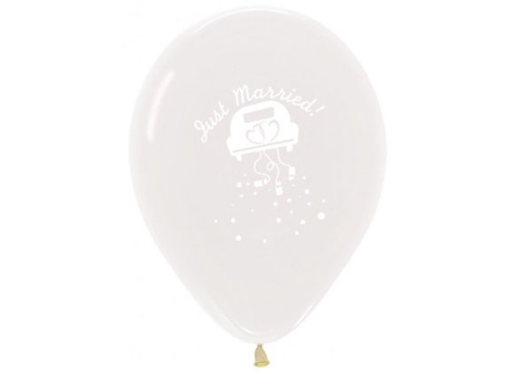 Zak losse ballonnen: Just Married car