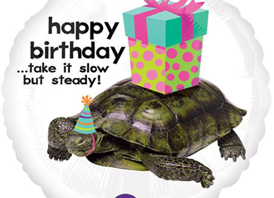 Helium Happy Birthday Turtle
