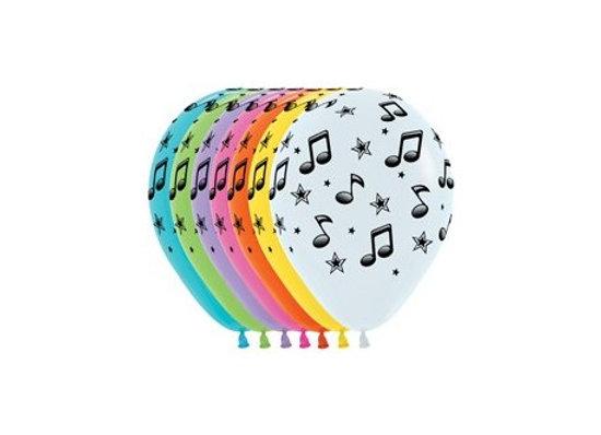 Zak losse ballonnen: Music notes