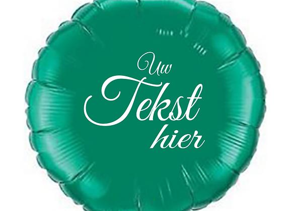 Helium rond spar groen