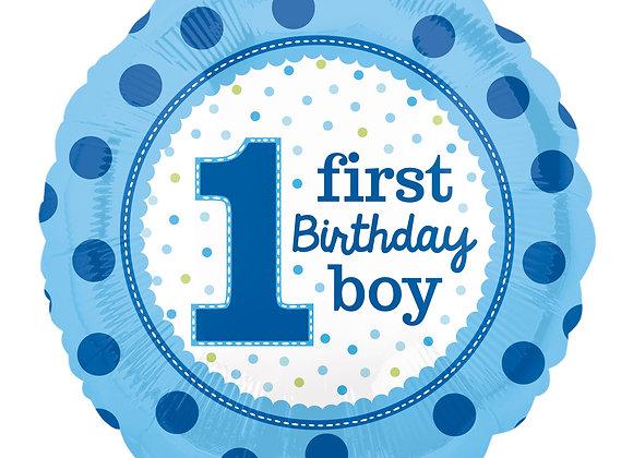 Helium 1st Happy Birthday Boy