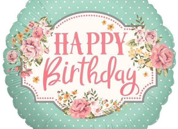 Helium Happy Birthday Retro
