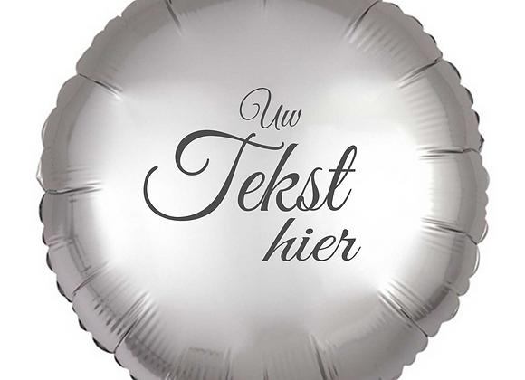 Helium rond zilver