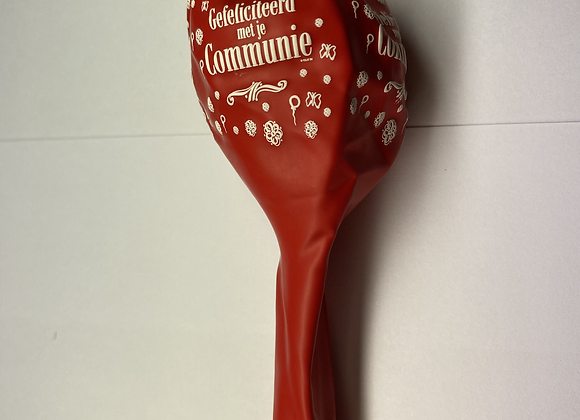 Zak losse ballonnen: Communie bloemetjes rood