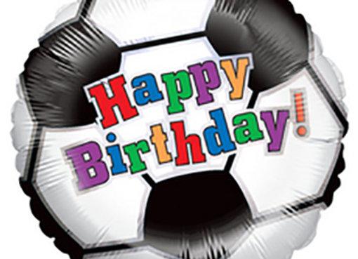 Helium voetbal Happy Birthday