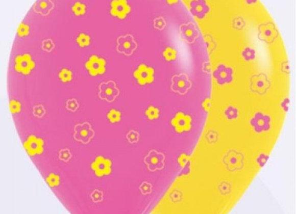 Zak losse ballonnen: All over daisies