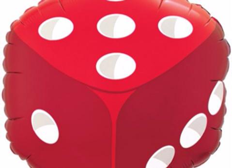dobbelsteen folieballon