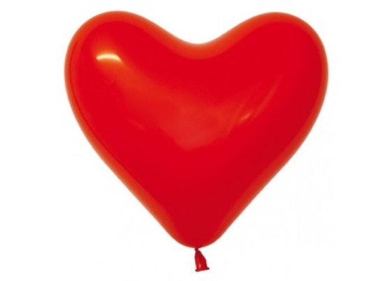 Zak losse ballonnen: Heart solid red