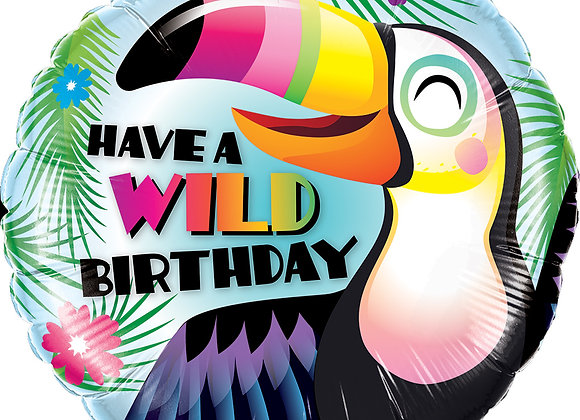 Helium Toekan Happy Birthday