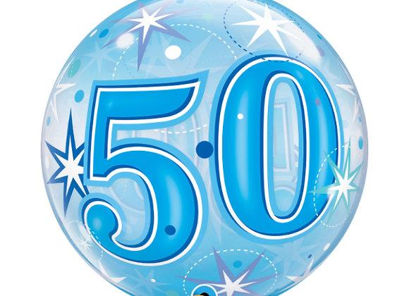 Helium bol blauw 50