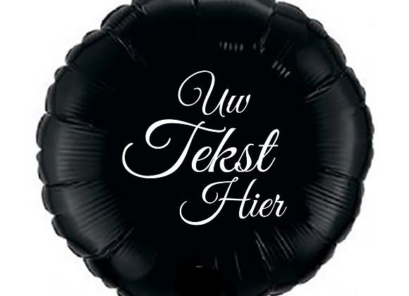 Helium rond zwart