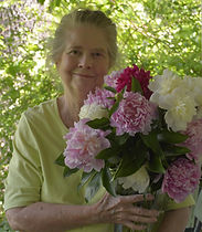 Anne Prichard with Peonies 2017 vertical