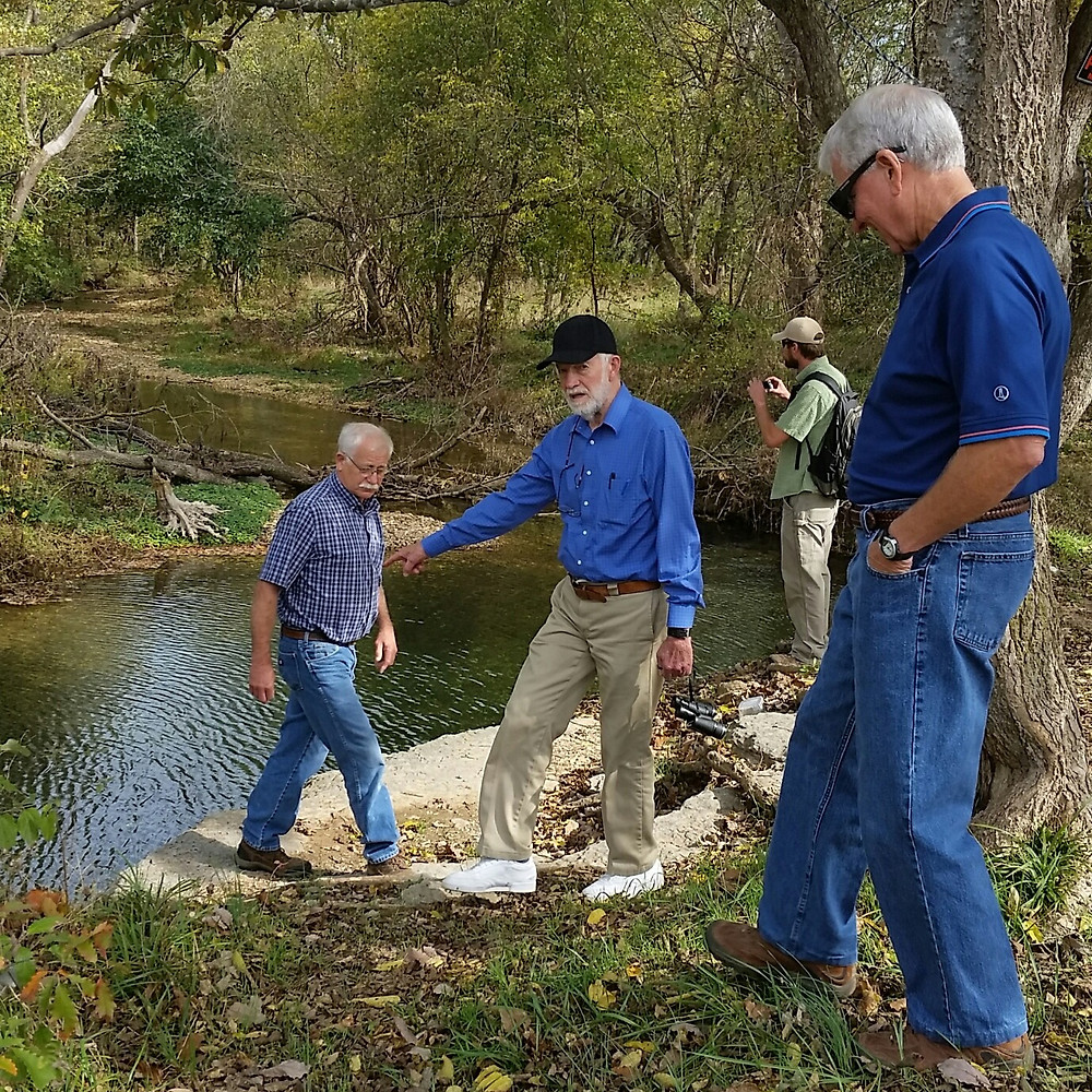 Dr. Wasson shares stories of growing up on Flint Creek with three other individuals, along the bank of the creek.