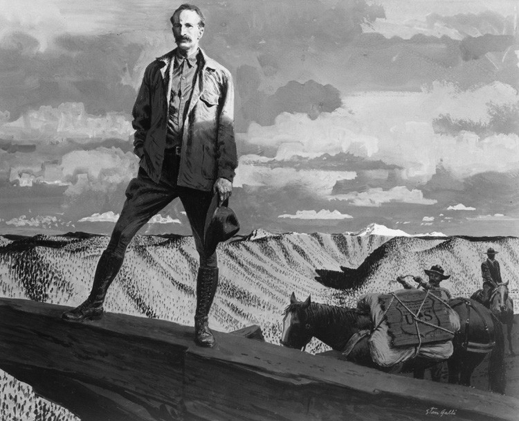 Gifford Pinchot stands over a desert region