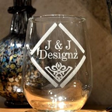 Design Your Own Custom Stemless Wine Glass | Personalized Wine Glasses | Etched