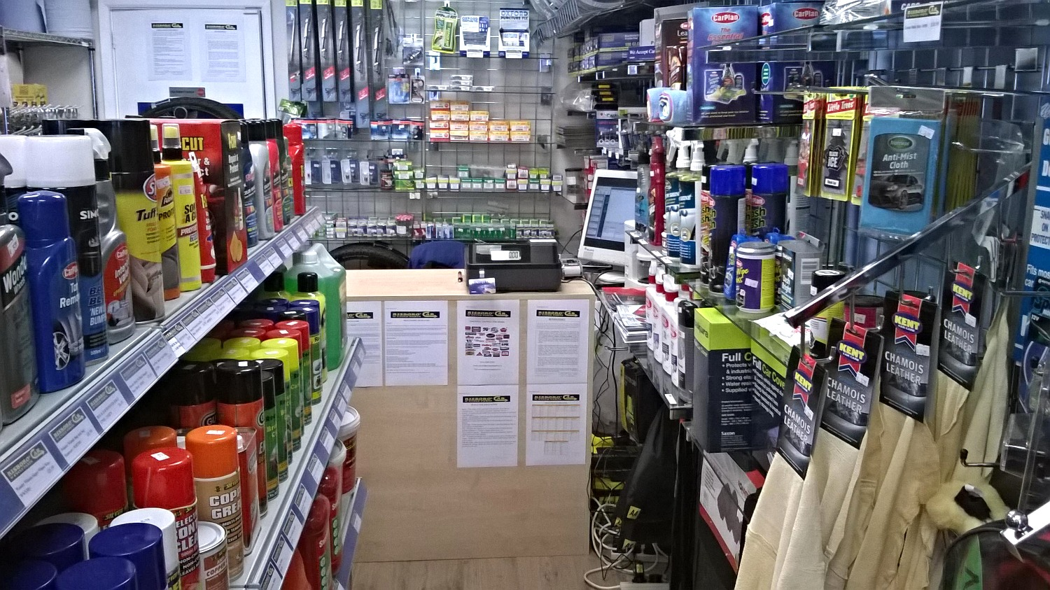 Car accessories in stock