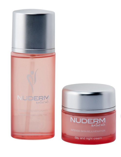 Nuderm Preparatory moisturizing oil and intense rejuvenation cream