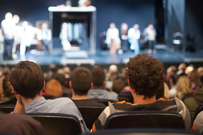 audience watching theater play