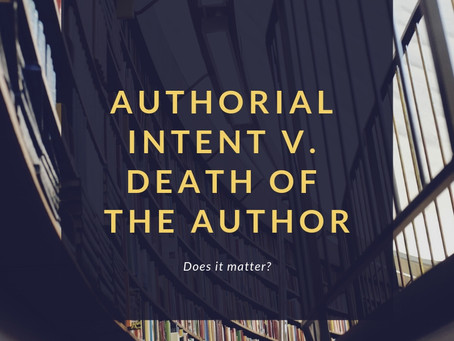 Does Author Intent Really Matter?