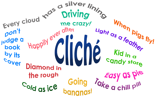 Image result for writing cliche word clouds